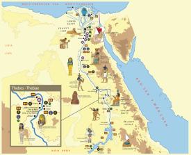 MAP-ANCIENT EGYPT-PRINT